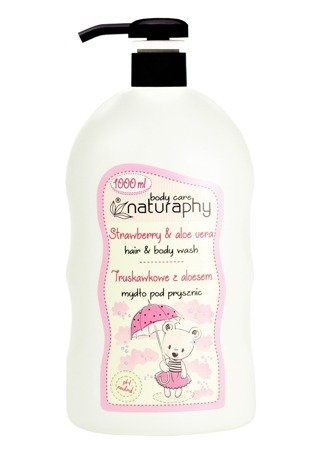 KIDS strawberry shower soap with aloe vera 1L