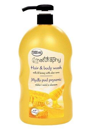 Milk and honey shower soap with aloe vera 1L