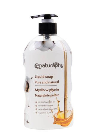 Natural ECO liquid soap with cottonseed oil 650 ml