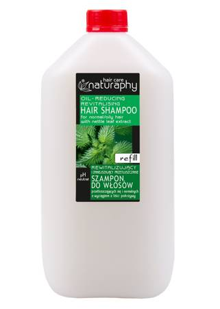 Revitalizing and reducing greasy hair shampoo for oily and normal hair with nettle leaf extract 5L canister