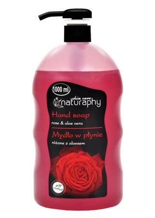 Mydło w płynie różane z aloesem 1L