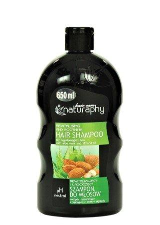 Rewitalizujący i łagodzący szampon do włosów suchych i zniszczonych z wyciągiem z aloesu i migdałów 650 ml